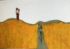 The Lonely Hiker-125x185-Oil on canvas