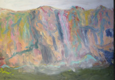 The Soft Mountains-130x180-Oil on Canvas(Resul Aytemür de)