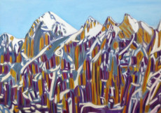 The Strange Mountains-100x140-Oil on Canvas