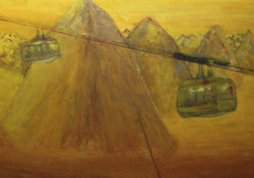 Cable Cars-150x200-Oil on Canvas