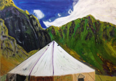 Kackar Mountains-150x200-Oil on Canvas
